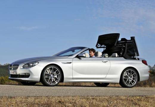 BMW Seria 6 kabriolet silver grey przedni lewy