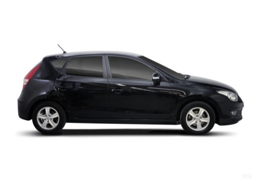 HYUNDAI i30 II hatchback czarny boczny prawy