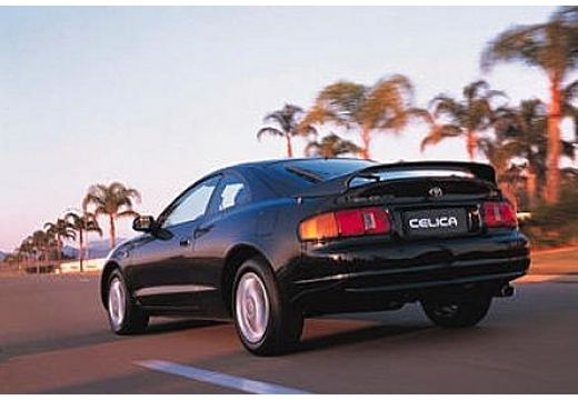 Toyota Celica coupe czarny tylny lewy