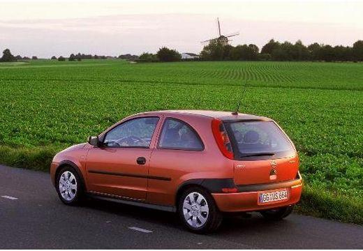 OPEL Corsa C I hatchback pomarańczowy tylny lewy