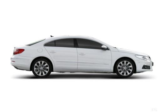 VOLKSWAGEN Passat CC sedan biały boczny prawy