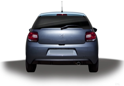 CITROEN DS3 hatchback szary ciemny tylny