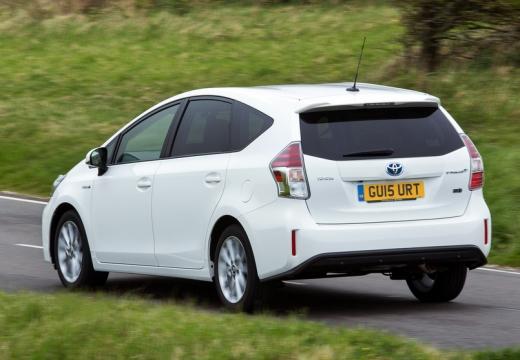 Toyota Prius kombi biały tylny lewy