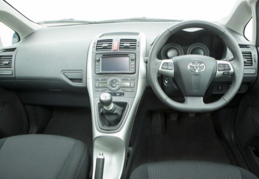 Toyota Auris II hatchback szary ciemny tablica rozdzielcza