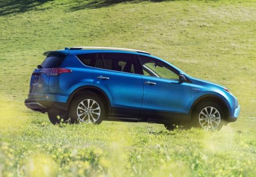 Toyota RAV4 VII kombi niebieski jasny boczny prawy