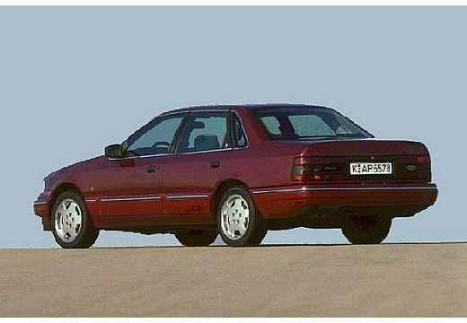 FORD Scorpio I sedan bordeaux (czerwony ciemny) tylny lewy