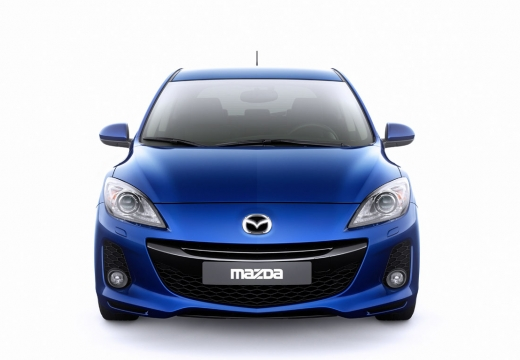 MAZDA 3 IV hatchback niebieski jasny przedni