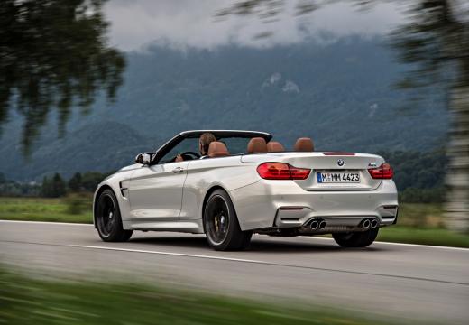 BMW Seria 4 Cabrio F33 kabriolet silver grey boczny lewy