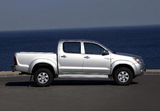 Toyota HiLux III pickup silver grey boczny prawy