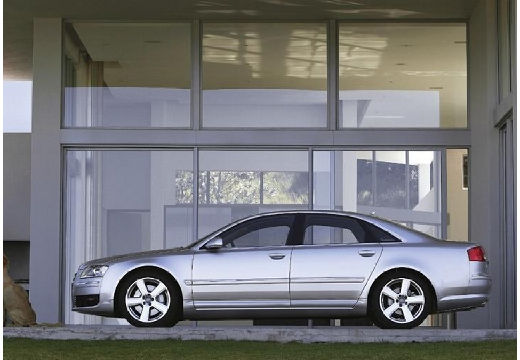 AUDI A8 4E I sedan silver grey boczny lewy