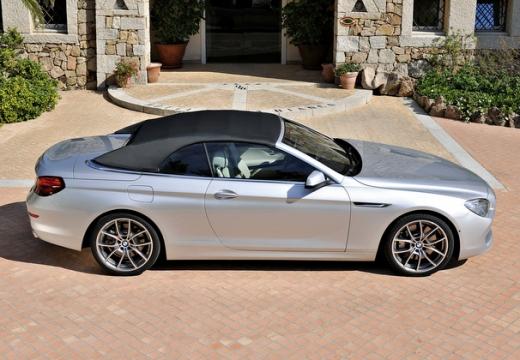 BMW Seria 6 Cabriolet F12 I kabriolet silver grey boczny prawy