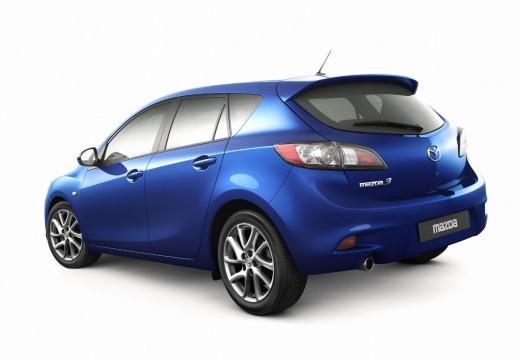MAZDA 3 IV hatchback niebieski jasny tylny lewy
