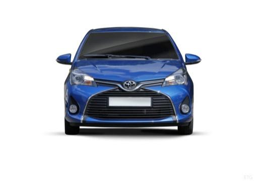 Toyota Yaris VI hatchback niebieski jasny przedni