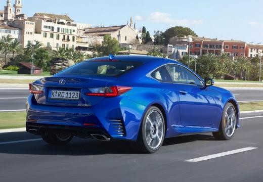 LEXUS RC coupe niebieski jasny tylny prawy