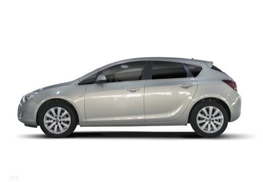 OPEL Astra IV I hatchback silver grey boczny lewy