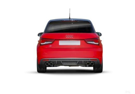 AUDI A1 Sportback I hatchback czerwony jasny tylny