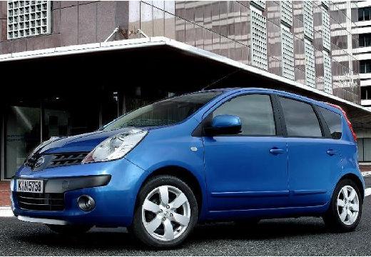 NISSAN Note hatchback niebieski jasny przedni lewy