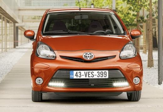 Toyota Aygo III hatchback pomarańczowy przedni