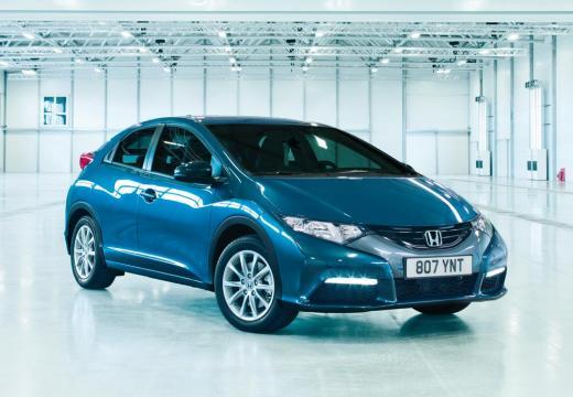 HONDA Civic VIII hatchback niebieski jasny przedni prawy