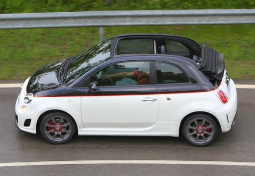 FIAT 500 C I kabriolet biały boczny lewy