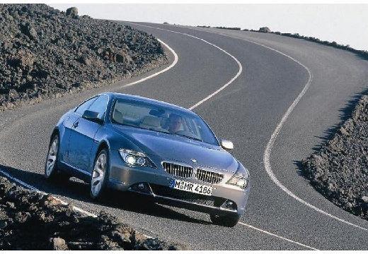 BMW Seria 6 E63 I coupe szary ciemny przedni prawy