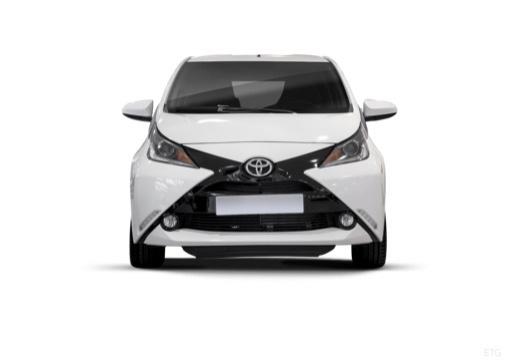 Toyota Aygo IV hatchback biały przedni