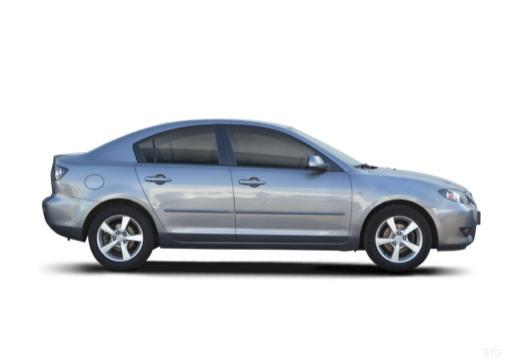 MAZDA 3 I sedan silver grey boczny prawy
