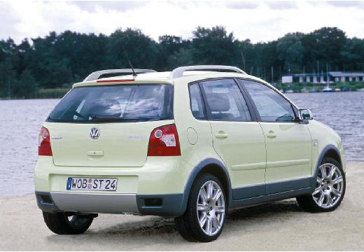 VOLKSWAGEN Polo IV I hatchback żółty tylny prawy