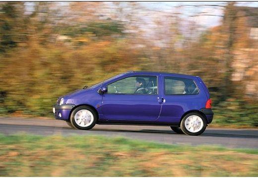 RENAULT Twingo II hatchback niebieski jasny boczny lewy