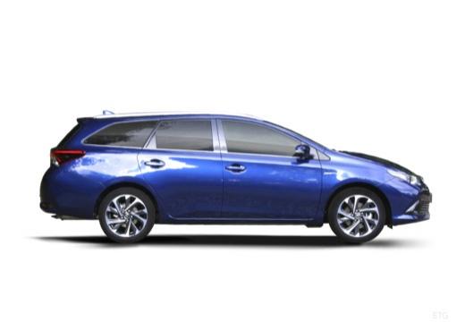 Toyota Auris TS II kombi niebieski jasny boczny prawy