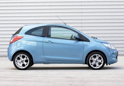 FORD Ka II hatchback niebieski jasny boczny prawy