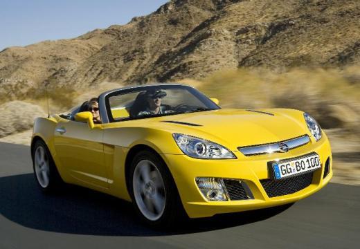 OPEL GT roadster żółty przedni prawy