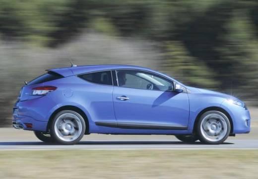 RENAULT Megane III Coupe I hatchback niebieski jasny boczny prawy