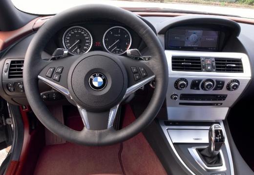 BMW Seria 6 E63 II coupe silver grey tablica rozdzielcza
