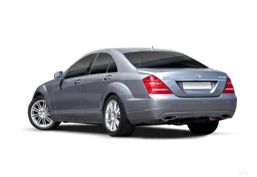 MERCEDES-BENZ Klasa S sedan silver grey tylny lewy