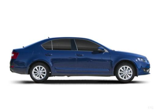 SKODA Octavia III I hatchback niebieski jasny boczny prawy