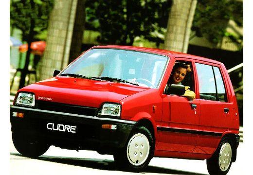 DAIHATSU Cuore hatchback czerwony jasny przedni lewy