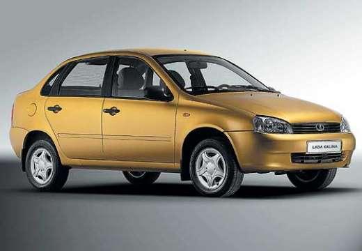 LADA Kalina sedan żółty przedni prawy