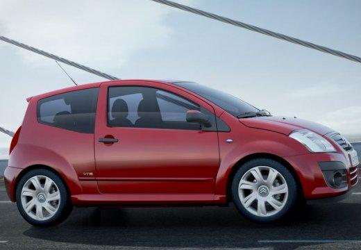CITROEN C2 hatchback czerwony jasny boczny prawy