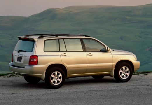 Toyota Highlander kombi silver grey boczny prawy