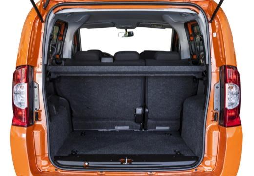 FIAT Fiorino Qubo kombi pomarańczowy przestrzeń załadunkowa