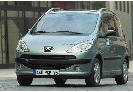 PEUGEOT 1007 I hatchback szary ciemny przedni lewy