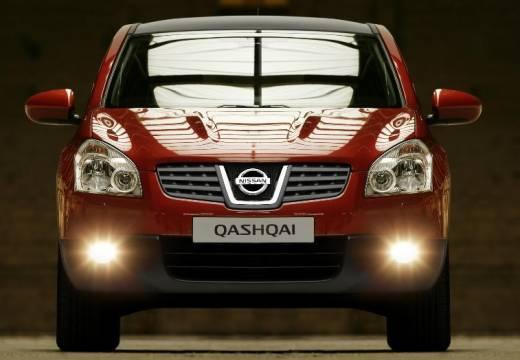 NISSAN Qashqai I hatchback czerwony jasny przedni