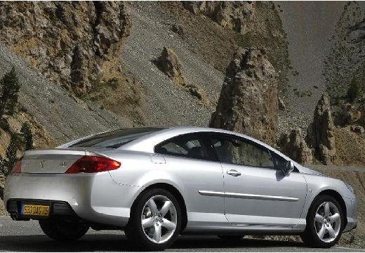PEUGEOT 407 coupe silver grey tylny prawy