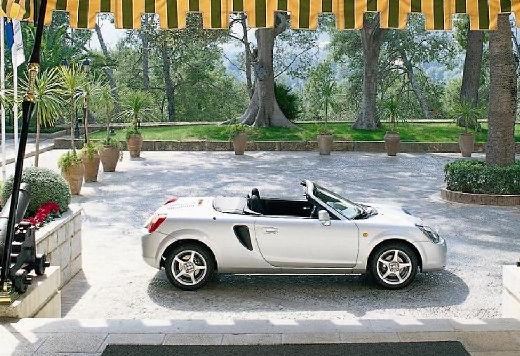 Toyota MR2 roadster silver grey boczny prawy