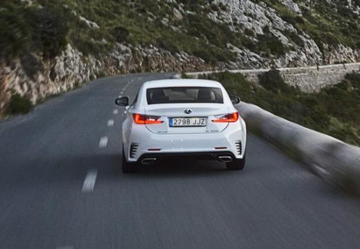 LEXUS RC I coupe biały tylny