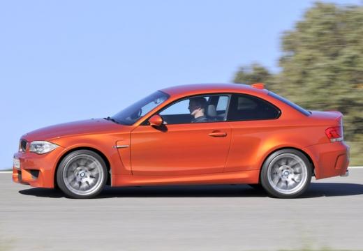 BMW Seria 1 E82 II coupe czerwony jasny boczny lewy