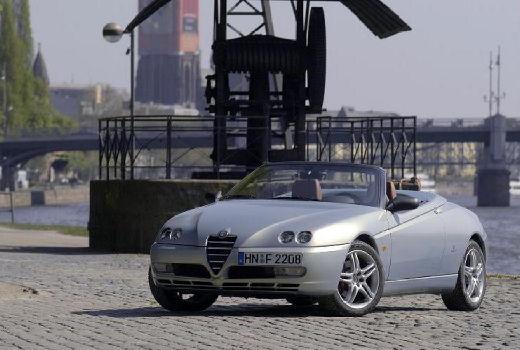 ALFA ROMEO Spider IV kabriolet silver grey przedni lewy