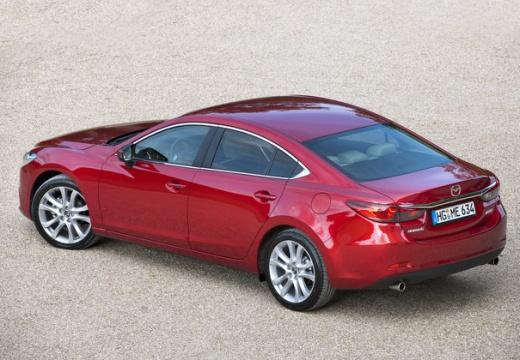 MAZDA 6 V sedan czerwony jasny tylny lewy
