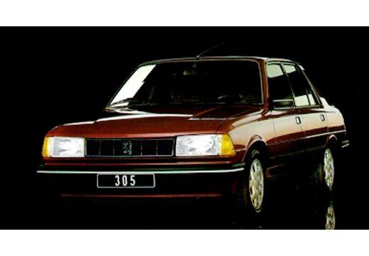 PEUGEOT 305 sedan bordeaux (czerwony ciemny) przedni lewy